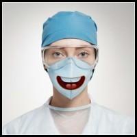 Śmieszne maski chirurgiczne...